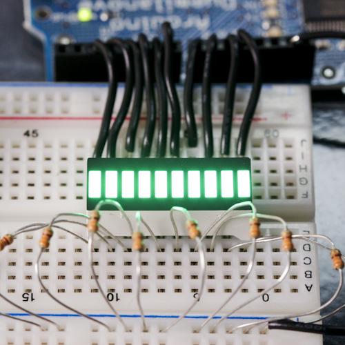 Green 10 Segment LED Bar Graph (สีเขียว)