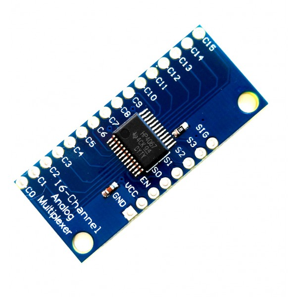 16-Channel Analog/Digital MUX Breakout - CD74HC4067 (PCB สีน้ำเงิน)