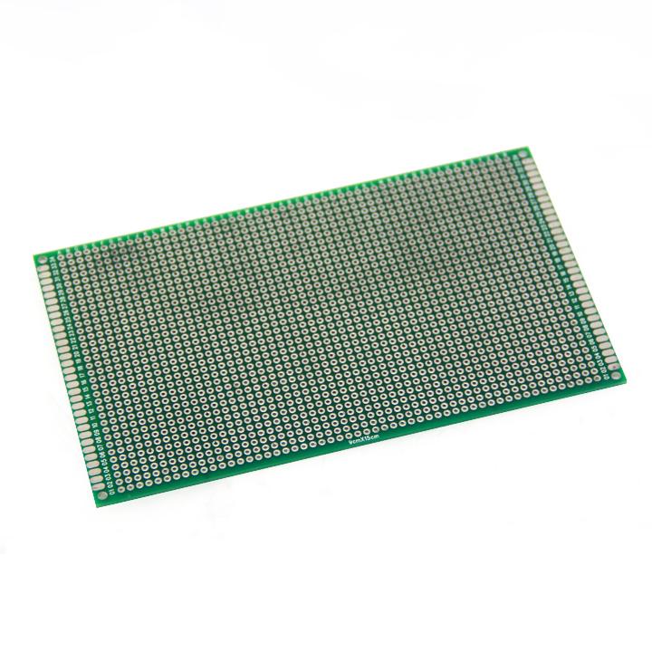 แผ่นปริ๊น PCB อเนกประสงค์แบบ 2 หน้าอย่างดี สีเขียว ขนาด 9x15 cm