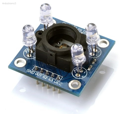 RGB Color Sensor Module (TCS230/TCS3200) with Anti-light Interference