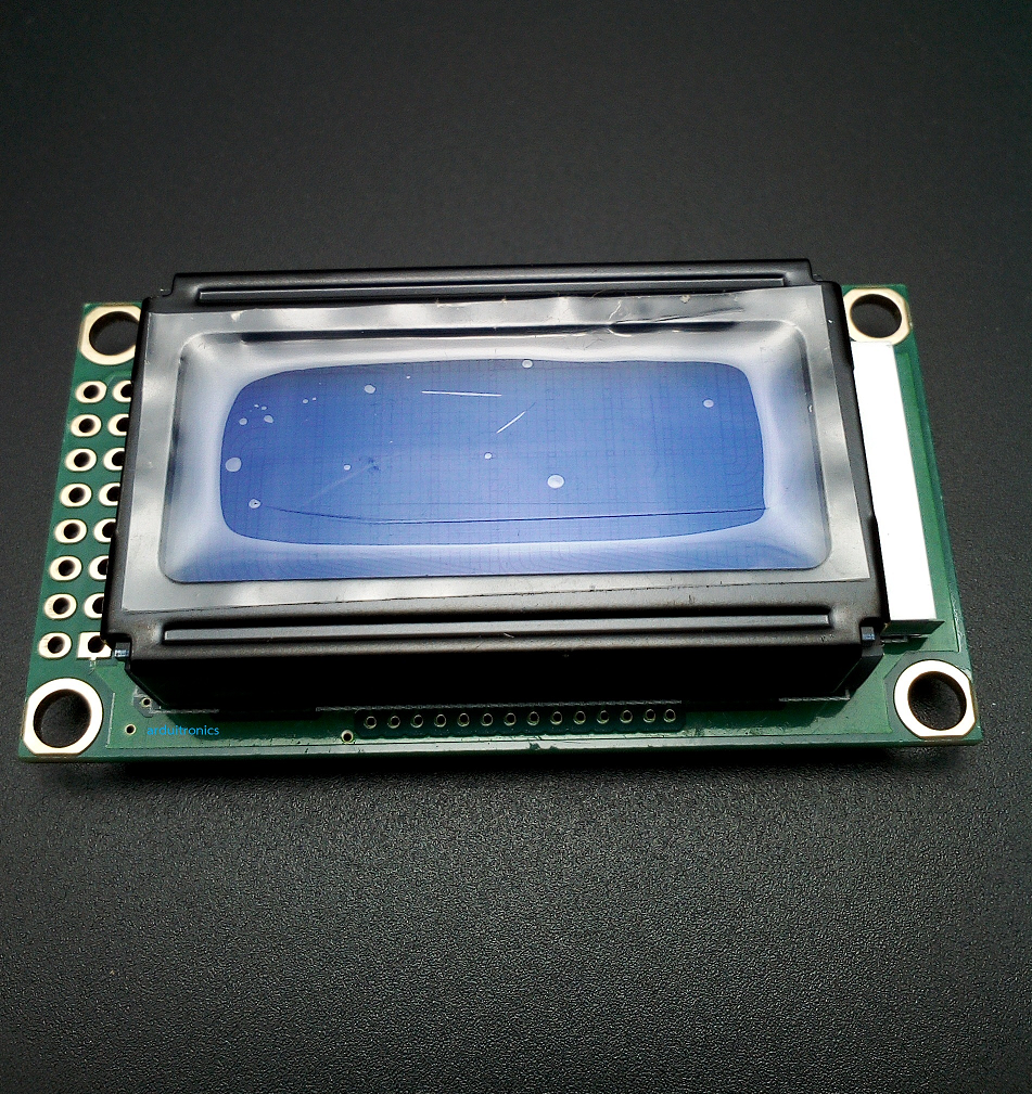 LCM0802B 5V 8x2 Character LCD 0802 (Blue Screen with Backlight)