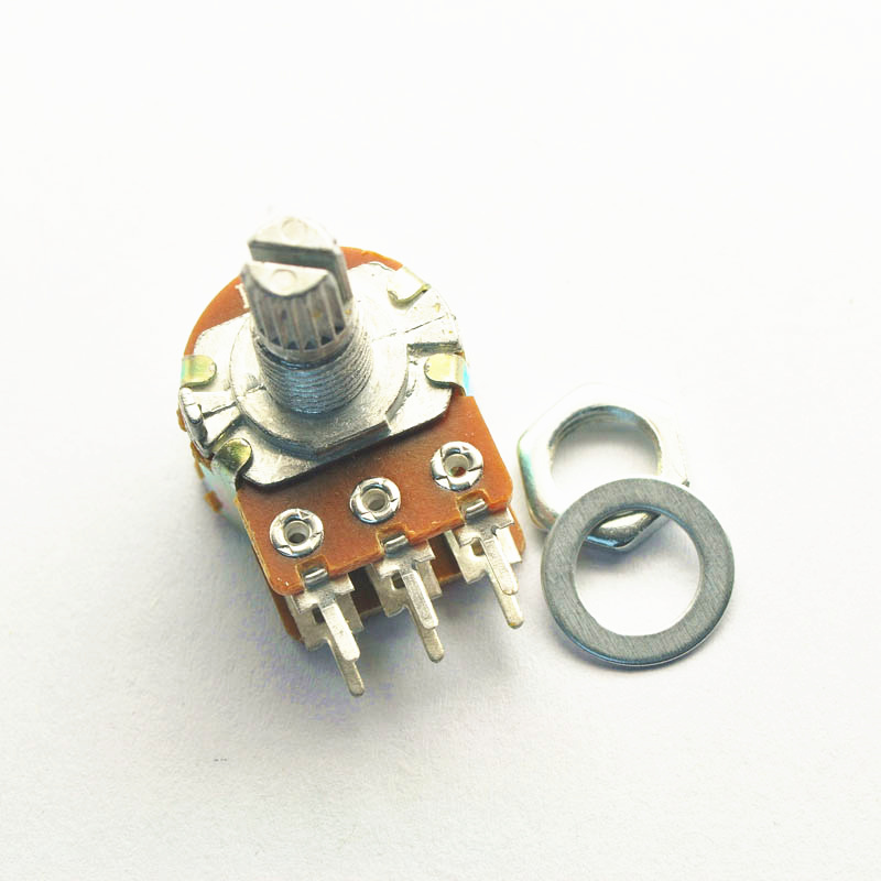 Potentiometer Variable Resistor (VR) แกนยาว 15MM ขนาด 1K, 2K, 5K, 10K, 20K, 50K, 100K, 250K, 500K