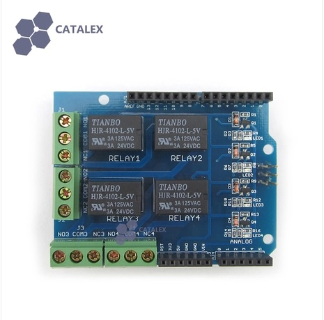 Relay Shield v0.9b 5V 4-Channel Relay Module for Arduino (Catalex) รีเลย์ 4 ช่อง