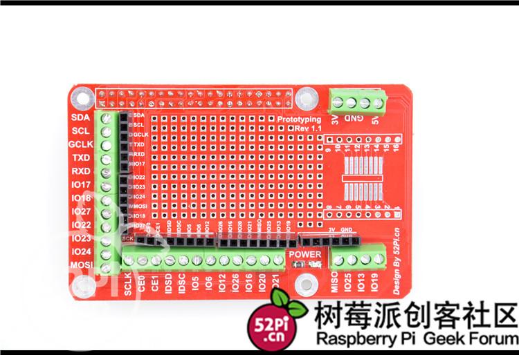 Raspberry Pi 3 Model B Prototype Extension Board