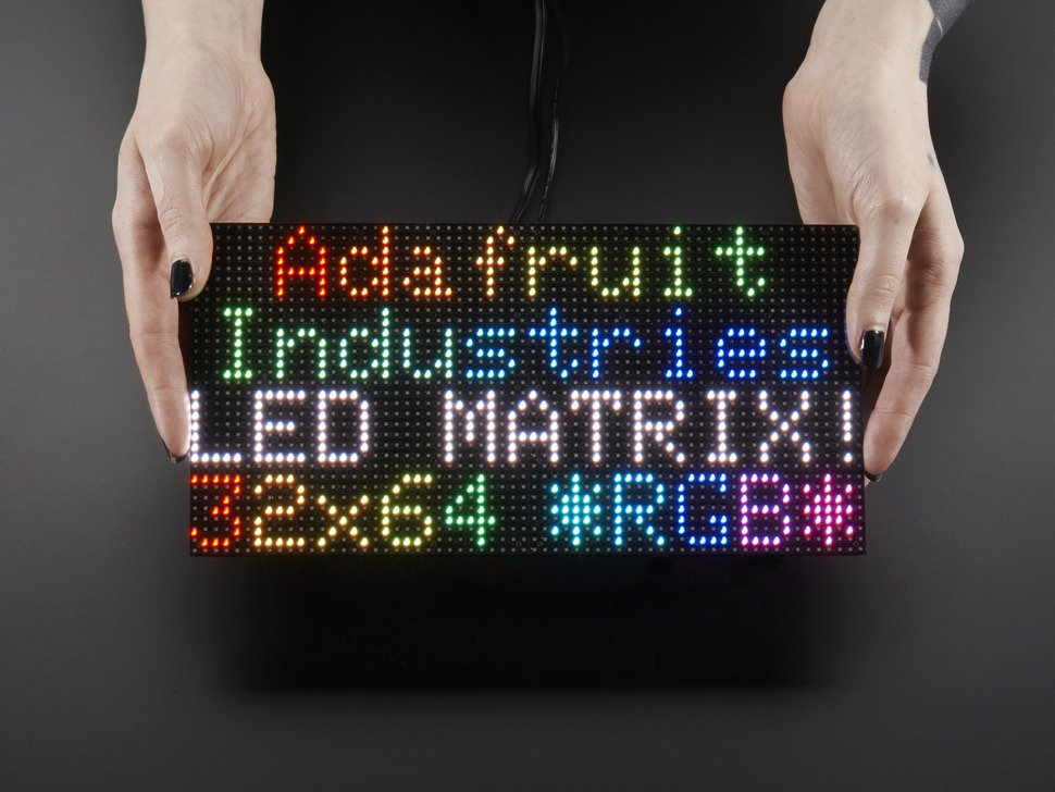 64X32 RGB LED Matrix Panel - 4mm Pitch (Adafruit)