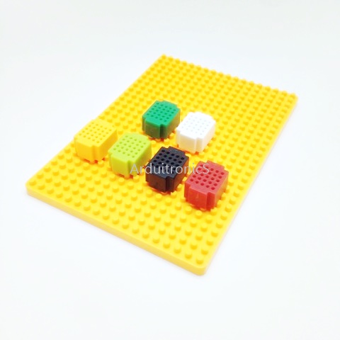 Super Mini Breadboard: XF-25 6 ​​Bread Panels (6 Colors) + Free 1 Base