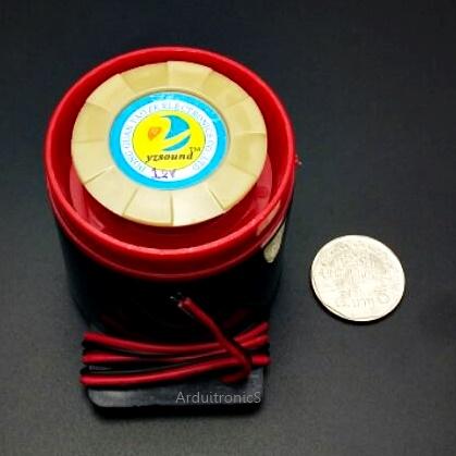 Buzzer 12V (เสียงดัง) สัญญาณเสียงเตื่อนภัย/กันขโมย