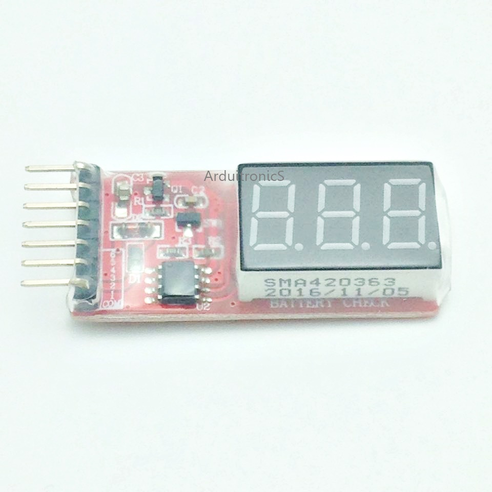 1S-6S Lipo Battery Voltage Checker / Meter