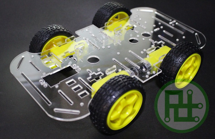 4WD 1-Layer Smart Car Chassis with Speed Encoder for Arduino