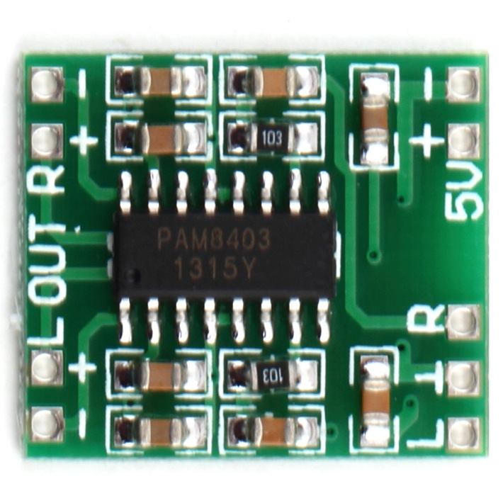 PAM8403 Power Amplifier Module D-Class 2x3w Ultra-Mini Digital Amplifier