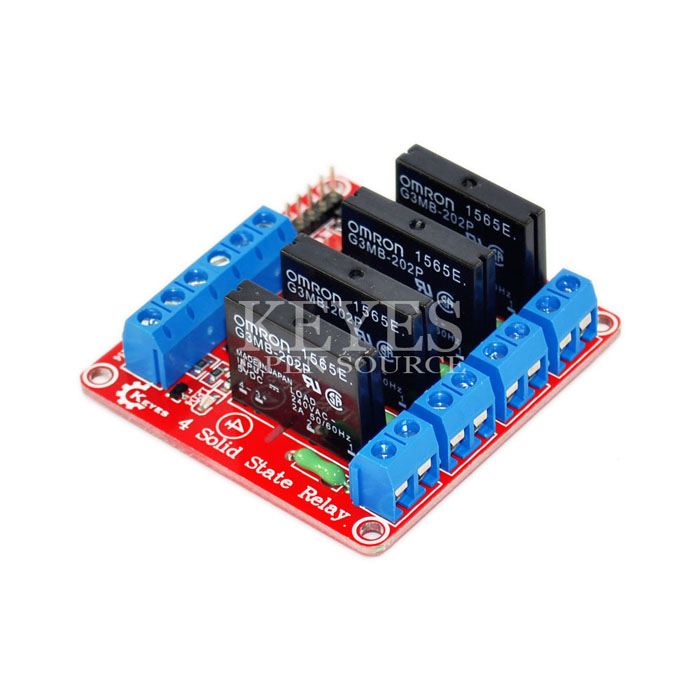 Keyes 4 Channel Solid State Relay Module (SSR) Red PCB