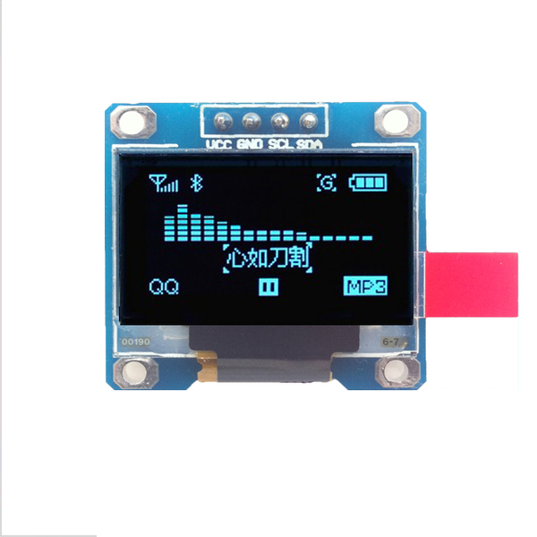 """OLED Display Module 128X64 0.96"""" (Blue Color) - I2C Interface"""