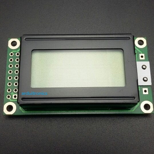 LCM0802A 5V 8x2 Character LCD 0802 (Yellow-Green with Backlight)