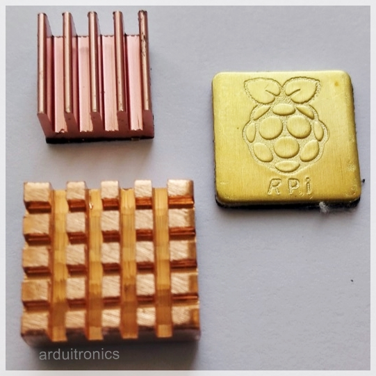 Heat Sink Set for Raspberry Pi with Logo (3 ชิ้น)