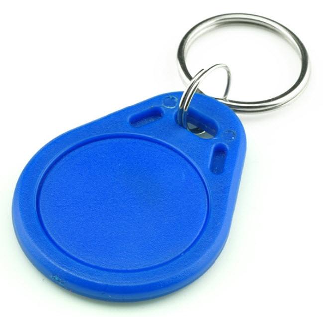 RFID 13.56 MHz Token Key Tags (Key Fob สีน้ำเงิน) - Read/Write