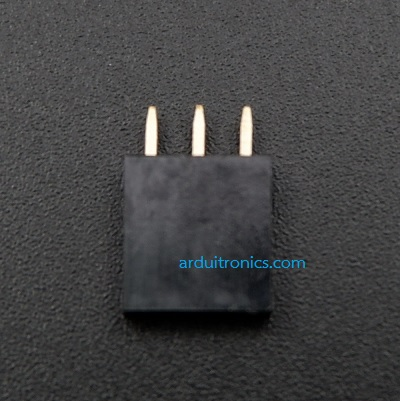 1X3 Pin Single Row Female Header 2.54mm Pitch Straight (จำนวน 1 ชิ้น)