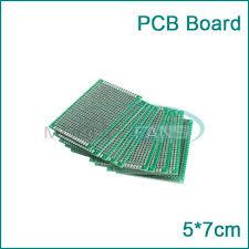 Through hole Universal Prototyping PCB Board size 5x7cm (บอร์ดPCB ไข่ปลา 2 หน้า)