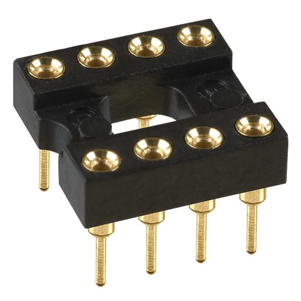 8-pin Socket (DIP-8) Gold-Plated