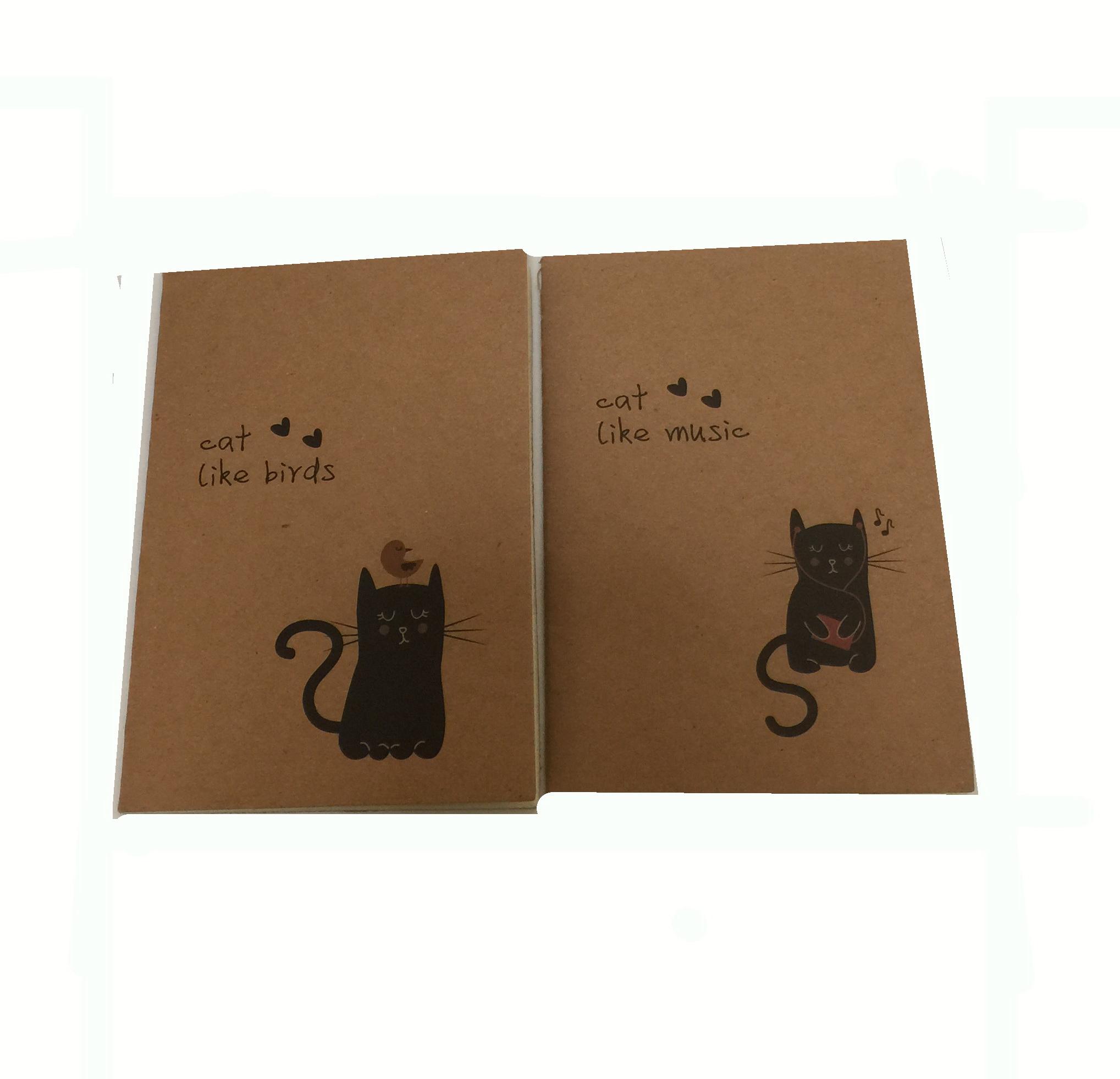 สมุดเล็กลายแมว ขนาด 8.5*12 ซม (ราคา/แพ็ค 10 เล่ม)
