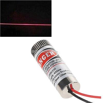 Adjustable Laser Tube 650nm 5mW - Line Laser (แสงตกบนฉากเป็นเส้นตรงปรับความหนาเส้นได้)