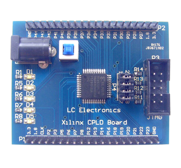 Xilinx (XC9572XL) CPLD Development Board