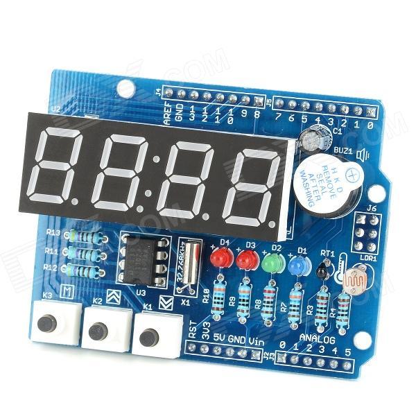 Arduino Expansion Board Clock Shield Wire Digital Module - Blue + Black (Catalex)