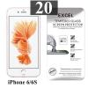 ฟิล์มกระจก iPhone 6/6s Excel แผ่นละ 18 บาท (แพ็ค 20)