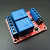 5V 2-Channel Relay High/Low Level Trigger Relay Module (Red PCB)