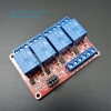 12V 4 Channel Relay High/Low Level Trigger Relay Module (Red PCB)