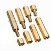 Pillar Nut M3 ชุดละ 10 ตัว (น็อตเสาค้ำทองเหลือง ทั้งแบบตัวผู้และตัวเมีย)