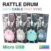 สายชาร์จ Micro USB (5 pin) RATTLE DRUM DATA CABLE FAST SYNC WK-RDm