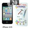 ฟิล์มกระจก iPhone 4/4s 9MC แผ่นละ 28 บาท (แพ็ค 20)