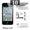 ฟิล์มกระจก iPhone 4/4s Excel แพ็ค 10
