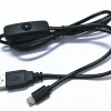 Raspberry Pi Power Switch USB to Micro USB Cable with ON/OFF Switch