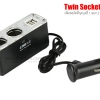 Twin Socket & 2 USB Charger