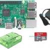 Raspberry Pi 3 Model B (Rpi Kit 4) ของแท้ UK (New Model 2016) Green Clear Case