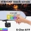 กล้องติดรถยนต์ E Car E Cam A19 2 กล้อง หน้า/หลัง จอสัมผัส ราคา1,885 บาท ปกติ 4,710 บาท