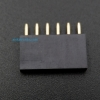 1X6 Pin Single Row Female Header 2.54mm Pitch Straight (จำนวน 1 ชิ้น)
