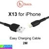 สายชาร์จ hoco X13 iPhone 2 เมตร ราคา 60 บาท ปกติ 150 บาท