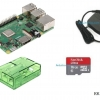Raspberry Pi 3 Model B+ (Rpi Kit 8) ของแท้ UK (New Model 2018) Green Clear Case