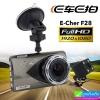 กล้องติดรถยนต์ E-Cher F28 2 กล้อง หน้า/หลัง ราคา 1,820 บาท ปกติ 4,550 บาท