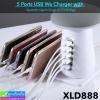 ที่ชาร์จ 5 Ports USB Wa Charger with XLD888 (6.0A) ราคา 625 บาท ปกติ 1,560 บาท