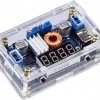 DC-DC Buck Regulator (Adjustable 5-36V to 1.25-32V Step Down, 5A 75W) Power Supply Module with Voltage/Current LED Display