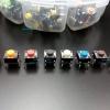 Micro-Push Switch Button Set (รวม 160 pcs, ปุ่มแบบ 4 ขา 6x6x5mm มี 8 สีใน 1 ชุด)