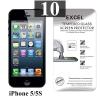 ฟิล์มกระจก iPhone 5 | ฟิล์มกระจก iPhone 5s/5c/SE Excel แผ่นละ 19 บาท (แพ็ค 10)