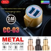 ที่ชาร์จในรถ XO CC-03 Dual USB Smart Hammer Car Charger ราคา 220 บาท ปกติ 660 บาท