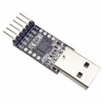 USB 2.0 to TTL (CP2102) UART 6-Pin Module Serial Converter - Black PCB