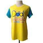 เสื้อยืดสีเหลือง Bike For Dad Size S รอบอก 34 นิ้ว ยาว26 นิ้ว