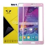 ฟิล์มกระจกนิรภัย Samsung Note 4 เต็มจอ ยี่ห้อ Diamond สีชมพู