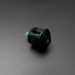 สวิตช์ไฟเปิด/ปิด Round Diameter 15mm/Outside diameter 16.5mm 3A 250V 2 ขา KCD1 - สีดำ